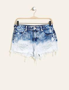 short taille haute en jean bleu foncé Jennyfer Magasin 941ce106dc2