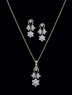 Make Your Day Blossom With These Beautiful Diamond Flowers In Pendant Set Every S Choice