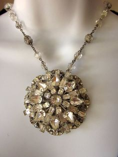 Vintage Rhinestone Necklace Bridal Jewelry by JeepersKeepers