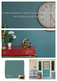 33 Trendy Ideas Exterior Paint Colours For House Dunn Edwards Front Doors Teal Paint, Room Paint Colors, Paint Colors For Living Room, Paint Colors For Home, Color Trends 2018, 2018 Color, Blue Green Paints, Trending Paint Colors, Exterior Paint Colors For House