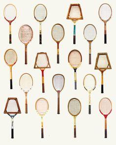 Tennis Vintage Poster Wall Art Print Wimbledon par PigeonStudios