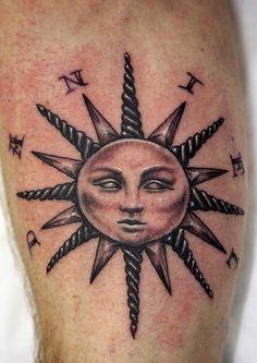 Bold Sun Tattoo