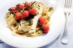 14 januari - Kabeljauw + Verse tagliatelle in de bonus = Kleurrijke pasta met vis uit de oven - Recept - Allerhande