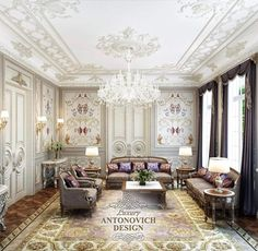 Drawing room - Room Setting Louis XV   via Mastour Galleries   My ...