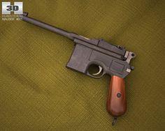 3D Model Mauser C96 c4d, obj, 3ds, fbx, ma, lwo 94609