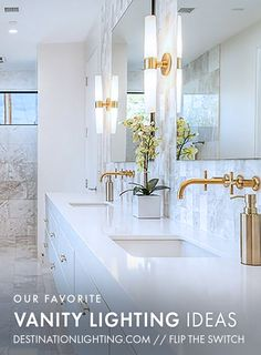 Bathroom Design Inspiration: We've rounded up our favorite vanity lighting to help you add style without sacrificing function.