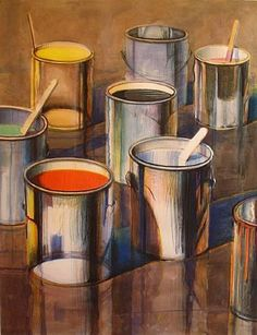 Wayne Thiebaud http://www.terminartors.com/artworkprofile/Thiebaud_Wayne-Paint_Cans