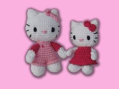 Hello Kitty Crochet Pattern Set by IlDikko on Etsy c4432f89a45c
