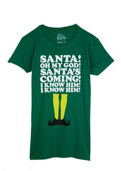 Elf Santas Coming Tee from delias. Saved to Me gusta. Shop more products from delias on Wanelo.