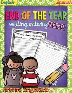 A free end of the year writing activities as a thank you to our followers!!! Both activities come in English and Spanish and can be used with first to fifth grade levels.