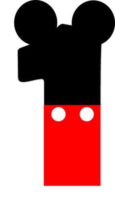 Alfabeto de mickey letras pinterest for Cabina del mickey