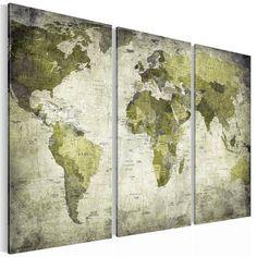 Details Zu Weltkarte IV, Leinwand Bild Auf Keilrahmen Poster Vintage Antik  Style 1601 | Najas Schäftli | Pinterest | Weltkarte, Keilrahmen Und Leinwand