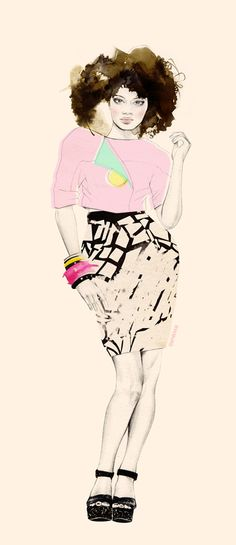 fashion illustration - Natalia Sanabria