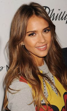 Heres exactly how to get jessica albas gorgeous caramel how to apply hair products in the right order urmus Images