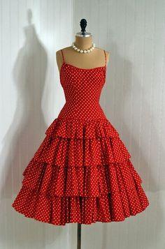 Винтажные платья 50х – 80 фотографий