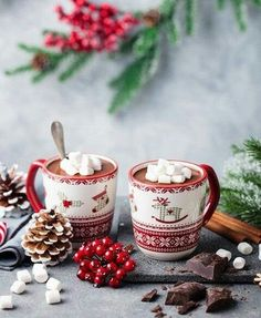 Christmas Hot Chocolate with marshmallows and whipped cream Christmas Hot Chocolate, Christmas Coffee, Christmas Mood, Noel Christmas, Christmas Treats, All Things Christmas, Christmas Cookies, Christmas Decorations, Hygge Christmas