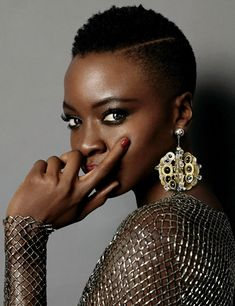"dailytwdcast: "" Danai Gurira photographed by Patric Shawn for Elle Magazine 2015 """