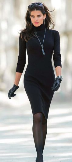 Sheath Sweater Dress.