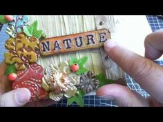 WOC ~ Recycled Nature Mini Book