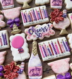 "Amy Smith on Instagram: ""Pop, fizz, clink and make a wish 💕 . . . #customcookies #decoratedcookies #decoratedsugarcookies #cookies #cookiesofinstagram #cookier…"""