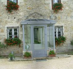 - the-veranda-enclosures-porches. Front Door Porch, Porch Doors, Front Porch Design, Brick Porch, House With Porch, House Front, Sas Entree, Enclosed Front Porches, Veranda Interiors