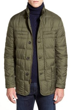 Brooks Brothers 'Alex' Leather Trim Quilted Jacket available at #Nordstrom
