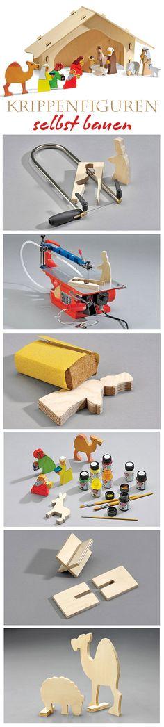 Krippenfiguren lassen sich auf Holz einfach selbst bauen. Wir zeigen den Bau von simplen Figuren für deine Krippe.