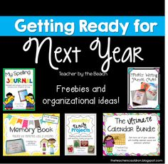 Getting Ready for Next Year - Freebies!
