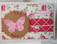 Handmade with love: Vlinders # 4 Bedankt