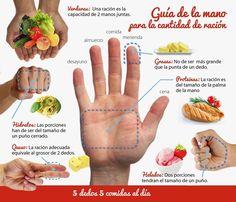 """La dieta de la mano"""" es una alternativa saludable que nos ayuda a bajar de peso sin necesidad de hacer dietas estrictas y poco saludable..."""