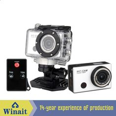 Free Shipping Action camera Ultra HD WiFi 1080P60fps 2.0 LCD 170D Helmet Cam camera IR remote control sport camera