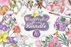 70 summer flowers {95%OFF} - Illustrations - 1