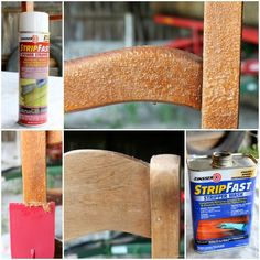 Dining Chair Makeover - How to Strip, Paint, and Recover Chairs