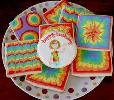 Arty McGoo: Tie-dye Birthday Cookies
