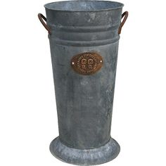 Fireside Home - K-224 Gray Zinc French Bucket w/Logo - 14  (http://www.firesidehome.ca/k-224-gray-zinc-french-bucket-w-logo-14/)  #tinware #vintage #homedecor #homeaccent #gift #decor #primitivedecor