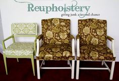 Everything you need to know to reupholster ~