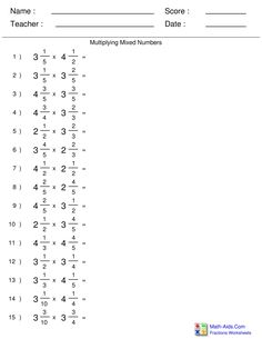 Subtracting Fractions and Whole Numbers Worksheets ...
