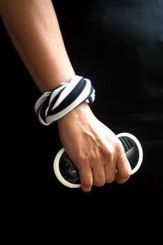 T-shirt bracelet....  simple and pretty cool