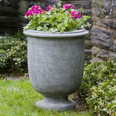 Campania International Antibe Cast Stone Urn Planter