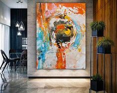 Extra Large Wall Art Textured Painting Abstract Canvas Art, Oil Painting On Canvas, Large Painting, Painting Abstract, Wall Canvas, Texture Art, Texture Painting, Office Wall Art, Office Decor