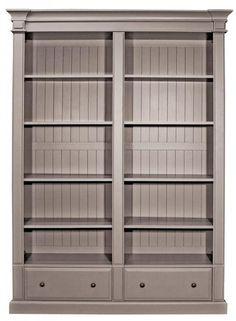 Grey Double Bookcase