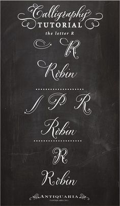Calligraphy Tutorial • Letter R