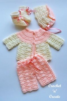 Crochet Baby Cardigan Free Pattern, Crochet Baby Jacket, Baby Sweater Patterns, Bag Crochet, Baby Clothes Patterns, Baby Girl Crochet, Baby Knitting Patterns, Crochet Baby Outfits, Crochet Baby Stuff