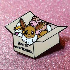 Free to Good Trainer Pokemon Hard Enamel Pin by CosmicMermaidPins