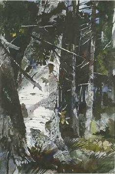 Andrew Wyeth - Canoe Birch /1942