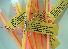 Glow sticks for Bible Club Sunday School Crafts For Kids, Bible School Crafts, Bible Crafts For Kids, Sunday School Lessons, Christian Halloween, Church Activities, Religion Activities, Bible Activities, Christian Crafts
