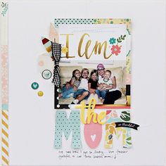 Scrapbook page created by designer Carol Monson using the Simple Stories I Am collection found in the Scraptastic Club Store