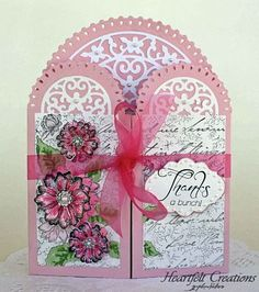 Click to Zoom: Pnk Tattered Blosssoms Gatefold
