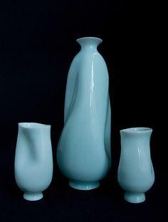 David Piper - Sake set #ceramics #pottery #cup #sake_cup #sake_bottle #tokkuri