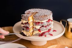 What's better than a single lamington? Layers of lamington, luscious buttercream and raspberry jam in a delicious Lamington Cake! Kiwi Recipes, Cake Recipes, Lamington Cake Recipe, Cake Dip, Cream Puff Recipe, Chocolate Icing, Cake Ingredients, Let Them Eat Cake, How To Make Cake